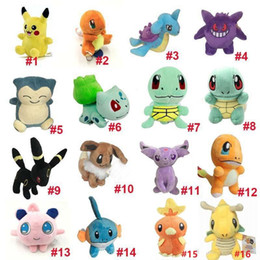 cartoon make toys NZ - 100pcs Pikachu Plush Toys dolls Squirtle Charmander Bulbasaur Pikachu Plush cartoon Stuffed animals soft Christmas gift toys