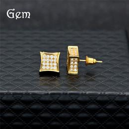 Earring Stud Boho Australia - Hiphop Stud Earrings for Women Men 2019 New Luxury Boho white Zircon Dangle Earrings Gold Silver Plated Vintage Geometric Jewelry