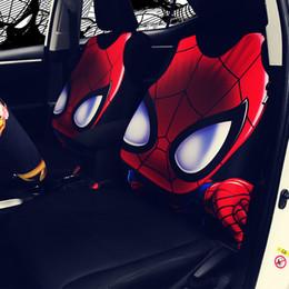 $enCountryForm.capitalKeyWord Australia - 1pc Creative Movie Cat Hero Spiderman Iron man Seat Cover Toy For Cars Vehicle Cartoon Car Decoration