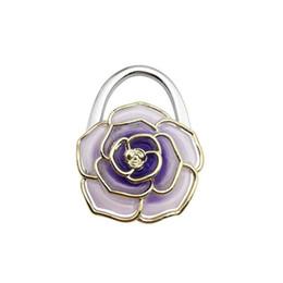 $enCountryForm.capitalKeyWord UK - 30PCS   LOT Portable Foldable Flower Shape Bag Purse Hook Hange Bag Parts & Accessories Handbag Holder Shell Bag Folding Table Hanger
