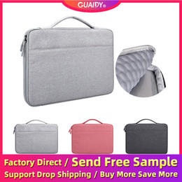 laptop 15.6 inch china Australia - Portable Landbag Laptop Bag For 13.3 14.1 15.4 15.6 Inch Notebook Apple Computer Case Liner Protector Cover Airbag Bar Belt Telescopic Hand