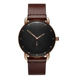 Vente en gros 2019 Mode Armée Sport Date Analogique Montre-bracelet À Quartz Hommes Montres Casual En Cuir Hommes Horloge Montres Relogio Masculino