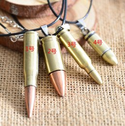 bullet gifts Australia - Fashion Men's Stainless Steel Bullet Shaped Hip Hop Statement Bib Pendant Chain Choker Necklace Cool Charm Jewelry Gifts