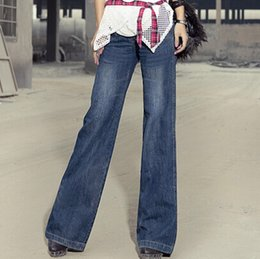 Lifting Jeans Australia - Vintage Bell-bottom Mid Waist Slim Butt-lifting Boot Cut Wide Leg Flare Women's Jeans J190621