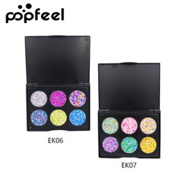 $enCountryForm.capitalKeyWord UK - DHL Free 6 Color Glitter Eyeshadow Palette Festival Party Stage Makeup Shimmer Sequins Glitter Baked Powder Smoky Party Eye Shadow Pallete