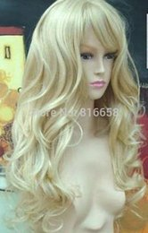 $enCountryForm.capitalKeyWord Australia - Hivision Free shipping New lady's Hair Cosplay Sexy Long Curly light Blonde Wig Lady Girls Cosplay Peluca Products WIGS