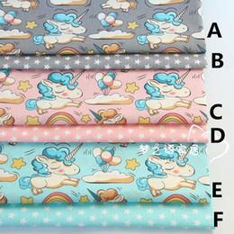 $enCountryForm.capitalKeyWord Australia - 160CMx50CM unicorn cotton fabric infant baby bedding patchwork fabric tecido quilting bedzee crafts material sewing tissue