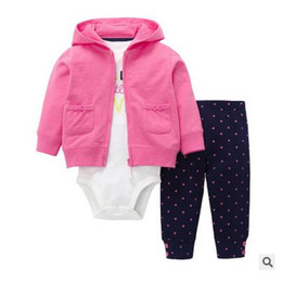 christmas clothes Australia - Free shippingBest selling children's clothing 2019 infant boys and girls cotton long-sleeved hooded 3 piece suit spring and autumn models