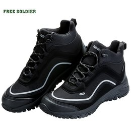 camp shoes for men Australia - FREE SOLDIER outdoor sports tactical military shoes men wear-resisting non-slip for camping hiking