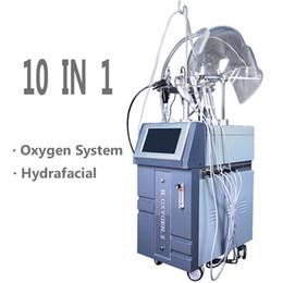 Discount ultrasound skin machine - 10 IN 1 Portable Galvanic Machines Hydro Facial Diamond Face Cleaner Machine Skin Spot Removal Ultrasound Facial Equipme