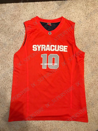 Cheap custom 2009 Syracuse Orange  10 Basketball Jersey Jonny Flynn SEWN Stitched  Customize any number name MEN WOMEN YOUTH XS-5XL dc39f500b