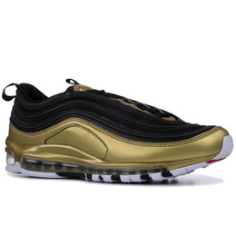 Camping paCks online shopping - 97 SE QS Metallic Pack Running Shoes For Mens Women Sneakers Designer Men Trainers Silver Gold Black White Pink S Sports Shoes