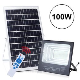 $enCountryForm.capitalKeyWord Australia - 100W Solar Flood Light Street Lights 196 LED Outdoor IP67 Waterproof with Remote Control Sensing Auto On Off for Yard Garden Swimming Pool