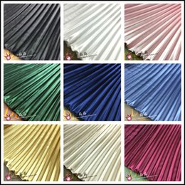 satin stripe fabric Australia - 1psc Electro-optic clothing pleated fabric multicolor stripes accordion silk satin crushed through dress fabric