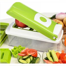 Red Cutter NZ - 12 In 1 Vegetable Fruit Nicer Plus Chopper Cutter Gadgets Vegetable Fruit Graters Peeler Slicer Cutting Tool Kitchen Accessories