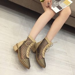 hollow boots women Canada - Crystal2019 Martin Sexy Wave Point Jacobs Shoes Hollow Out Chalaza With Locomotive Woman Short Boots