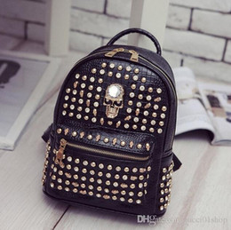 $enCountryForm.capitalKeyWord Australia - Free Shipping 2018 hot New Arrival Fashion Women School Bags Hot Punk style Men Backpack designer Backpack PU Leather Lady Bags#662
