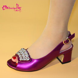 $enCountryForm.capitalKeyWord Australia - 2019 New Italian Lady Sexy High Heels Pumps Purple Color Rhinestones Design Ladies Women Pumps African Sandal Shoes for Parties