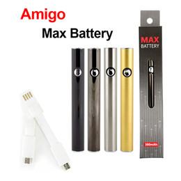 Wax cartridges for vape pen online shopping - 100 Original Amigo Max Preheat Battery mAh VV Bottom USB Charging Thread Vape Battery Pen for Liberty Cartridge Tank Wax Genuine