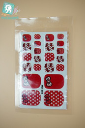 Fashion nails Foils online shopping - Rocooart MD005 New Fashion sexy beauty Toe Nail Art Foil Stickers Red Hello Kitty Rhinestone Manicure Decal Nail Wraps