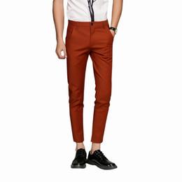 $enCountryForm.capitalKeyWord Australia - 2018 New Mens 5 Color Slim Soft Stretch Casual Pants Dress Trouser brown black coffee orange Size 28-38