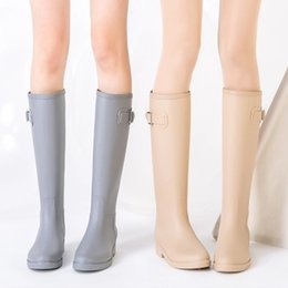Toe waTer shoes for women online shopping - PVC Women Rain Boots Girls Ladies Tall Boots Women s Pure Color Rain Outdoor Rubber Water shoes For Female Casual Walking