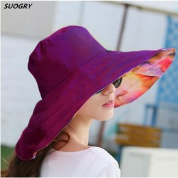 big hats for sun NZ - 2018 Summer large brim beach sun hats for women UV protection sun caps with big head foldable style fashion lady's hat