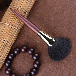 Hair Powders Australia - X178 Professional Makeup Brushes Ultra-soft Blue Squirrel Hair Fan Brush Sandalwood Handle Cosmetic Face Powder Make Up Brush