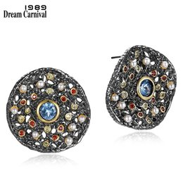 Fantastic Earrings Australia - Dreamcarnival 1989 New Fantastic Stud Earrings For Women Many Tiny Created Pearls Zircon Matching Jewelries Available We3783 C19041101