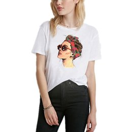 korean fashion tee women 2019 - 2019 Summer Vogue Girl Print Women T Shirt Casual Short Sleeve O-neck Fashion White Tee Camiseta Aesthetic Harajuku Kore