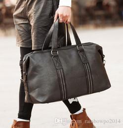 $enCountryForm.capitalKeyWord Australia - Original design brand men bags and soft leather business bag contracted large mens bag new litchi grain travel bag for men and women