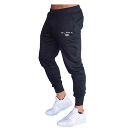 ingrosso mens abbigliamento allenamento-Mens Joggers Palestre Pantaloni Pantaloni Casual Elastic Muscle Cotton Men S Fitness Workout Skinny Sweatpants Pantaloni Pantaloni Jogger Bodybuilding Vestiti