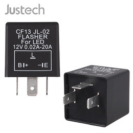 halogen motorcycle Australia - Justech DC 12V Flasher Relay For All 3Pins Universial Motorcycle,Car,Motorbike Adapted To Halogen And LED Lights Flasher Relay