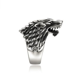 StainleSS Steel wolfS head ring online shopping - Fashion Jewelry Rings New Arrival Stainless Steel Wolf Head Biker Ring Punk Rock Men s Jewelry Size Brother Gift Anel bague