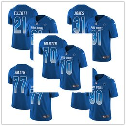 Men s 90 DeMarcus Lawrence 31 Byron Jones Limited Jersey Dallas Men s  Cowboys Royal Blue NFC 2019 Pro Bowl Football Jersey 4834eff7f