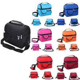 Ingrosso Donne Uomini dispositivo di raffreddamento isolato picnic pranzo Travel Bag Box portatile per alimentare termica