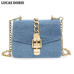 cell phone jeans NZ - Luxury Designer Jeans Small Bags Women Denim Chain Crossbody Bags For Women 2017 Women's Handbags Shoulder Bags Messenger Female Y19061903