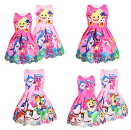 0f7851e8737 DoDo Girls Kid Summer Baby Shark Dress Cartoon Print Dresses Cosplay  Princess Sleeveless Baby Night Skirt Party Dress Children Clothes A3131