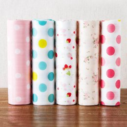 Paper Table Roll Australia - Drawer Paper Waterproof 1 Roll Anti-oil Table Drawer Mat Kitchen Gadgets Table Desk Decoration PET Shelf Liner Contact Paper