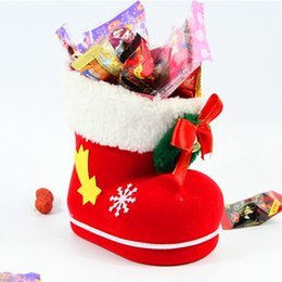 christmas gift shoes NZ - Shoes Christmas Gift Bags 3 Size Santa Claus Shoe Sacks for Christmas Goods New Year Gifts Presents Packing Supplies