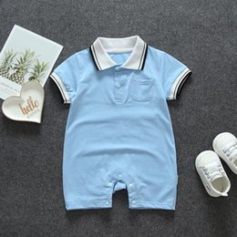 New Kids Clothing Newborn Baby Romper Short Sleeve Summer Jumpsuit Fashion Printed Plaid Summer Rompers Baby Clothes