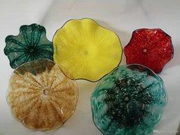 Fruit shaped glasses online shopping - LED Modern Decorative Flower Shape Glass Wall Light Used Glass Fruit Plate Wall Hanging blown glass Wall Light hotel restaurant decoration