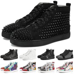ShoeS for girlS Size 36 online shopping - ACE Designer Casual Shoes For Men Women Studded Spikes Flats Red Bottom Party Lovers Genuine Leather Boy Girl Fashion Sneaker Size