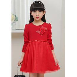 elegant princess gowns for kids 2019 - 2019 Girls Dress Solid Autumn And Winter Clothes Kids Dresses For Girls Vestido De Festa Cute Baby Girl Princess Dress E