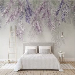 Custom Wall Mural Purple Fruit 3d Photo Wallpaper Lavender For Living Room Bedroom Papers Home Decor Papel De Parede