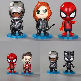 marvel avengers toys Australia - 6 Pcs Lot 10CM Funko PoP The Avengers Doll Toys Car Decoration Shaking Head Doll Marvel movie Avengers4 Kids Toys