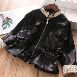 $enCountryForm.capitalKeyWord NZ - New Winter lace Pu leather girls jackets kids coat kids jackets kids designer clothes girls coat boutique girls clothes A7914