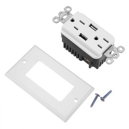 $enCountryForm.capitalKeyWord Australia - Double Outlet Usb Wall Socket Strip Receptacle Power Supply Socket With Usb Wall Plug Dc 5v 2.4a T8190617