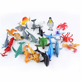 Simulation Marine Animal Model Toy Ocean Animals Figures 24pcs lot Ocean World Figures Toy Best Gifts For Kids on Sale