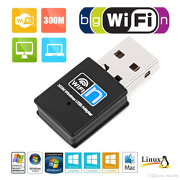 Wholesale Mini 300M USB2.0 RTL8192 Wifi dongle WiFi adapter Wireless wifi dongle Network Card 802.11 n g b wi fi LAN Adapter